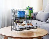 北歐ins鐵藝置物架收納架宿舍廚房家用雙層整理架多功能雜物收納igo『小淇嚴選』
