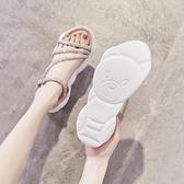 2021年夏季新款網紅超火水鑚運動涼鞋女仙女風厚底百搭羅馬ins潮 艾瑞斯居家生活「快速出貨」