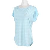 Mizuno Shirts [K2TA120123] 女 短袖 T恤 瑜珈 訓練 運動 休閒 排汗 舒適 乾爽 水藍