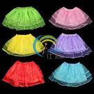 兒童表演道具 活動用品 三層網紗裙 表演舞裙