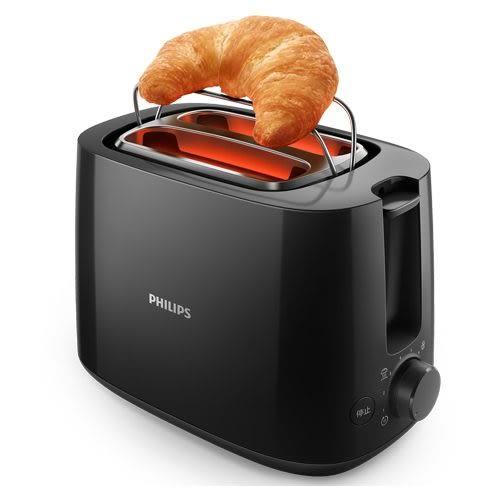 PHILIPS 飛利浦電子式智慧型厚片烤麵包機 HD2582 / HD-2582 (黑色款)