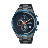 ALBA雅柏  情人限定計時手錶VD57-X135SD(AM3597X1)黑