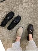 皮鞋 春季小皮鞋女英倫風春款新款百搭中跟春秋粗跟單鞋黑色鞋子春  曼慕