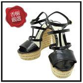 GUCCI漆亮皮羅馬細帶船型鞋時尚圈必備展示品