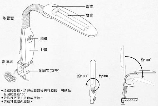 免運費.台灣製造 優雅大寶熊新貴夾燈 單支 (UY-2715)