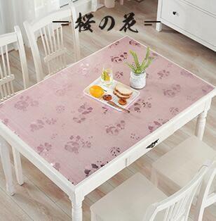 桌巾PVC防水桌布防燙軟質玻璃塑料桌墊 60*60cm