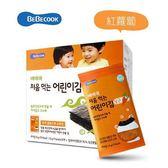 韓國 智慧媽媽 BEBECOOK 嬰幼兒無鹽海苔~紅蘿蔔 10包入(12個月以上)