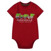 『小鱷魚童裝』Q版鱷魚家族LOGO連身裝(0號~01號)553531