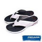 【PEGADA】巴西名品時尚夾腳運動涼拖鞋  白色(31903-WH)