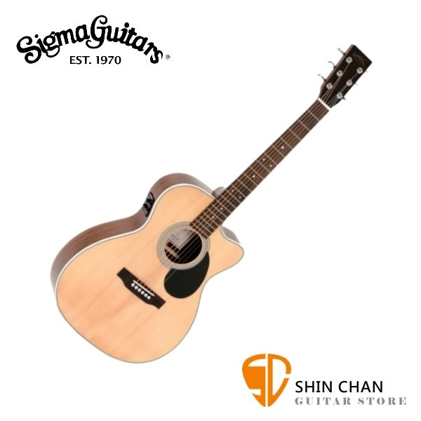 Sigma OMMRC-1STE 可插電單板民謠吉他 41吋雲杉木面單板/桃花心木側背板/OM桶身 贈吉他袋