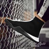 襪子鞋男嘻哈高筒鞋韓版潮流百搭運動休閒紅色潮鞋白色男鞋子【果果新品】