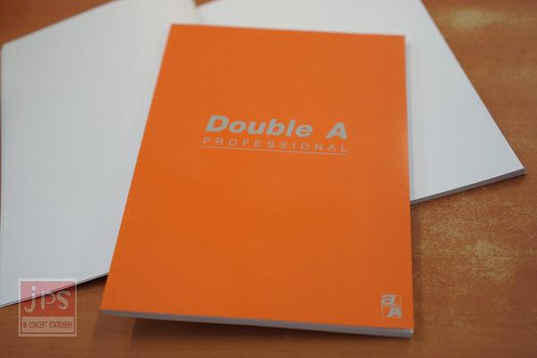 Double A B5 18K 膠裝筆記本 辦公室系列 (橘-空白)