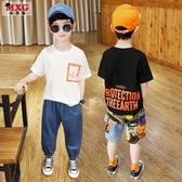 童裝男童短袖t恤純棉年夏季 兒童上衣潮牌體恤中大童韓版洋氣 快速出貨