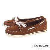 Tino Bellini巴西進口休閒工藝手感莫卡辛鞋 _ 棕 C69002  歐洲進口款