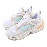 adidas 休閒鞋 Boujirun 白 米白 藍 橘 Neo 愛迪達 休閒鞋 女鞋【ACS】 FZ0566