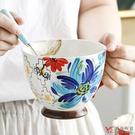 【堯峰陶瓷】歐式手繪早餐杯 湯杯 單入| 擺盤必備 | 親子野餐適用 | 燕麥牛奶咖啡大容量