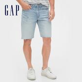 Gap 男裝 淺色水洗五口袋牛仔褲 536736-泛白破洞牛仔藍