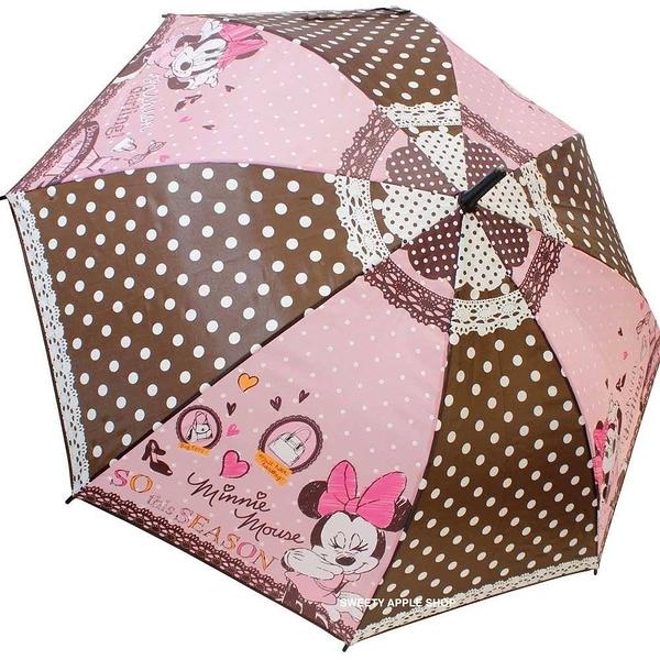 日本限定  迪士尼 米妮 時尚風  直立雨傘 55 cm