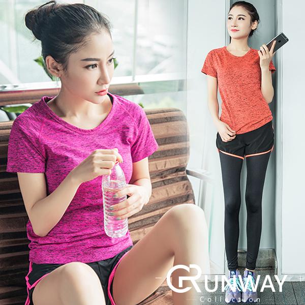 【現貨】炫染 多色 跑步 瑜珈 速乾 健身 運動上衣 短袖 T恤 休閒 運動服
