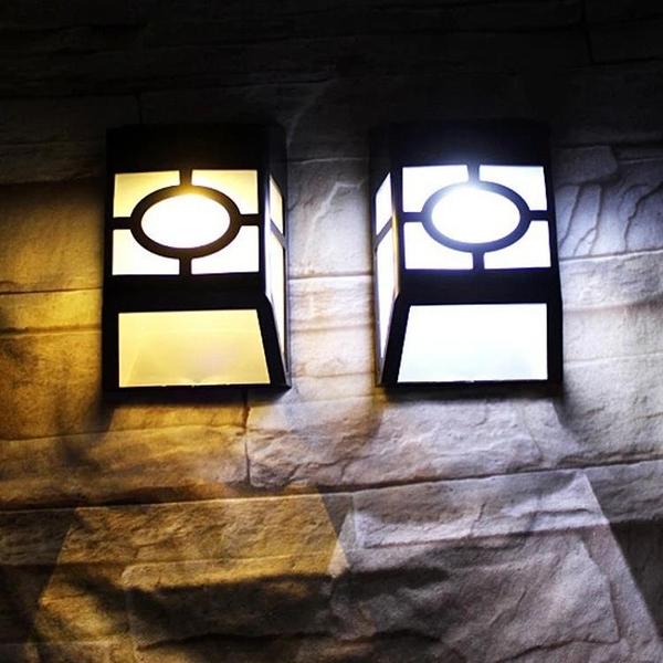 太陽能復古壁燈戶外防水別墅庭院花園欄桿籬笆柵欄過道走廊露台燈 【快速出貨】