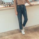Queen Shop【04011368】休閒百搭花苞褲頭造型牛仔褲 S/M/L/XL*現+預*
