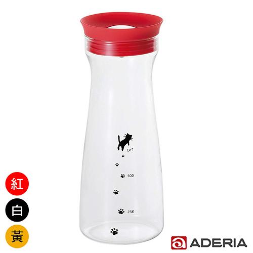 【ADERIA】日本進口貓咪耐熱玻璃冷水瓶900ml(三色)