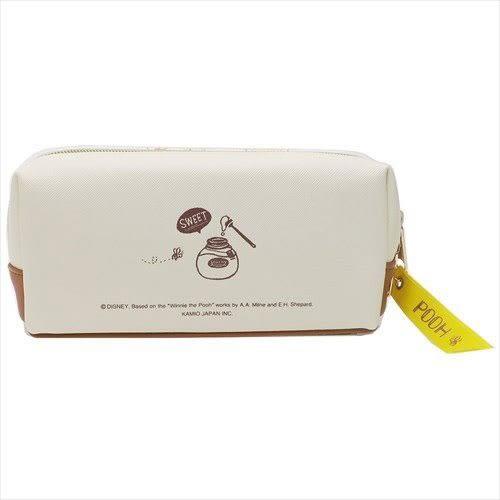 DISNEY 小熊維尼合成皮革雙拉鍊筆袋(小豬抱抱)★funbox★KAMIO_KM84438