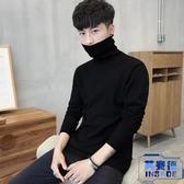 男士修身打底衫高領毛衣純色針織衫長袖韓版加厚【英賽德3C數碼館】