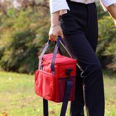 雙十二狂歡購防水牛津布飯盒袋戶外野餐包大容量手提可單肩鋁箔加厚大號保溫包 熊貓本