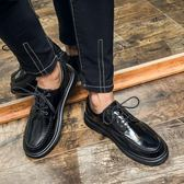 男皮鞋 保暖男鞋子 圓頭皮鞋男鞋韓版休閒鞋潮鞋時尚英倫鞋子休閒皮鞋《印象精品》q693