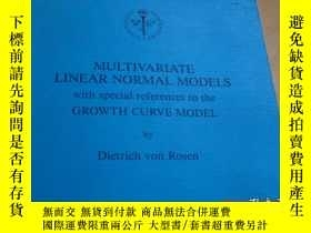 二手書博民逛書店MULTIVARIATE罕見LINEAR NORMAL MODE