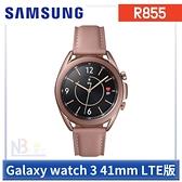 Samsung Galaxy watch 3 【送原廠運動錶帶+鋼貼+原廠皮革錶帶】R855 智慧手錶41mm LTE版