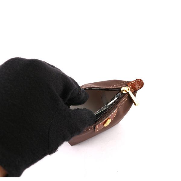 【LONGCHAMP】小零錢包(粟子色)3693089C95