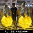 落地擺件 宇航員大型仿真太空人模型潮流門口裝飾創意玻璃鋼雕塑 - 古梵希