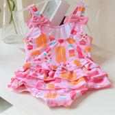 兒童泳衣女童幼兒小女孩寶寶裙式可愛蝴蝶結裙擺連體溫泉季泳裝 森活雜貨