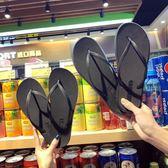 夾腳拖鞋 情侶人字拖女夏時尚外穿海邊拖鞋男士夾腳防滑平底平跟沙灘涼拖鞋