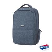 AT美國旅行者 Westlock混色質感功能型筆電後背包(藍)