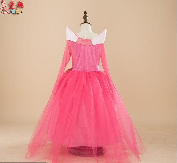 衣童趣 ♥兒童角色扮演服 甜美睡美人公釭 粉色洋裝 紗網表演服 舞檯造型洋裝