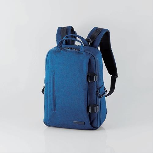 ELECOM 帆布多功能大容量後背包II-S038 藍