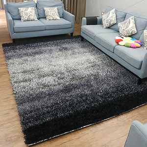 【YFS】極簡灰黑地毯 200x290cm 經典厚織長毛地毯 特殊處理