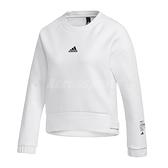 adidas 長袖T恤 Style Soft Swearshirt 白 黑 女款 刷毛布料 運動休閒 【ACS】 GM1458