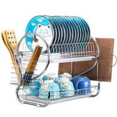 不銹組裝碗筷多功能家用廚房帶蓋簡易櫥柜收納瀝水碗架碗櫃   XY2823   【KIKIKOKO】