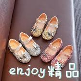 雙12狂歡購 女童皮鞋公主鞋2018春季新款韓版兒童豆豆鞋水鉆女童鞋舞蹈鞋單鞋