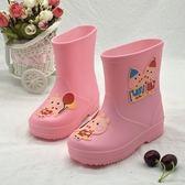 兒童雨鞋 豬年吉祥兒童雨鞋卡通可愛輕便雨靴防滑防水鞋小豬水靴冬【快速出貨】