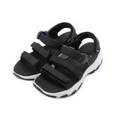 LOTTO 增高厚底涼鞋 黑 LT9AWS0330 女鞋 鞋全家福