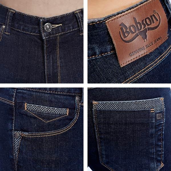 BOBSON 男款低腰高彈力直筒褲(1816-53)