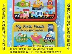 二手書博民逛書店my罕見first puzzle 6-in-A-BOX!ANIMAL PUZZLE GAMES【 共兩盒合售,拼圖