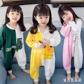 兒童連體衣 寶寶睡衣春秋薄款1-3歲女寶4小童男棉質家居服 BT1841『寶貝兒童裝』