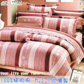 鋪棉床包 100%精梳棉 全舖棉床包兩用被四件組 雙人5*6.2尺 Best寢飾 KF2535