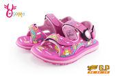 GP涼鞋 中小童 磁扣兩穿防水涼鞋 青蛙款 I6709#桃紅◆OSOME奧森鞋業